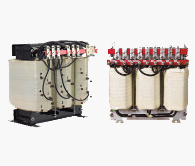 Three phase transformer with multiple voltage outputs